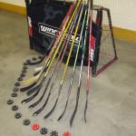 stecche e porta da hockey inline
