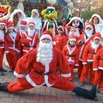 Andrea Jam in veste di Babbo Natale sui pattini + Prezzemolo,Aurora e altri personaggi natalizi per inaugurazione Gardaland Magic Winter 2015